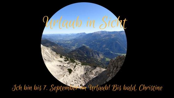 Urlaub bis 7. September